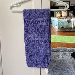 Blue scarf.